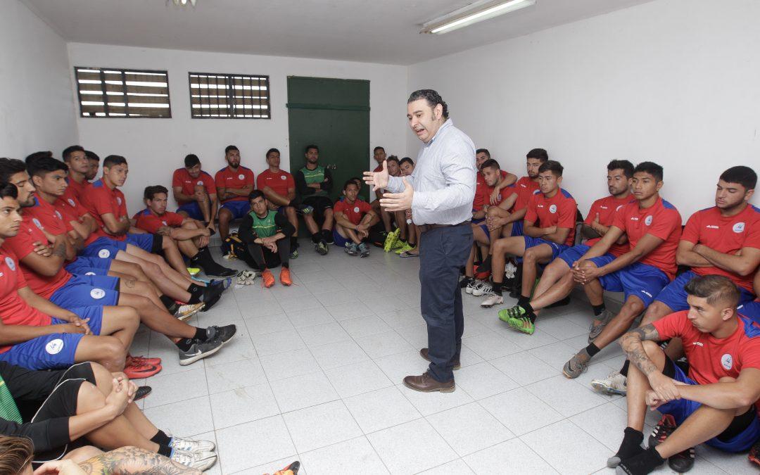 Continúan talleres de psicología y  motivación para jugadores libres
